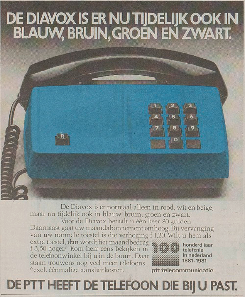 Advertentie speciale Diavox kleuren (1981)