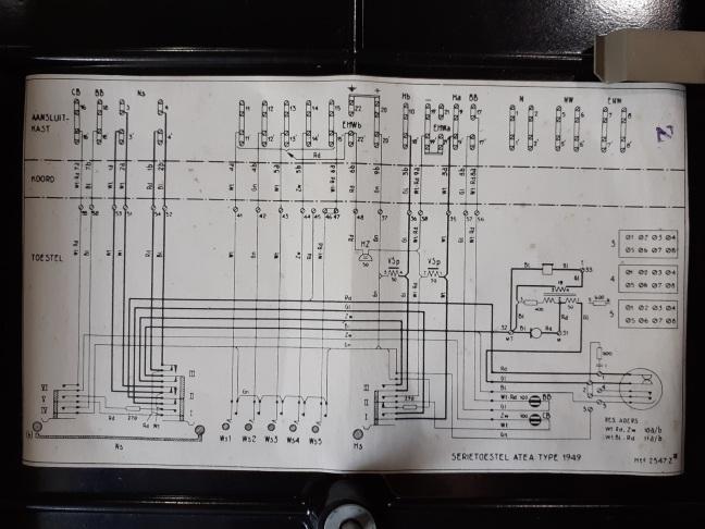 Schema serietoestel Atea type 1949